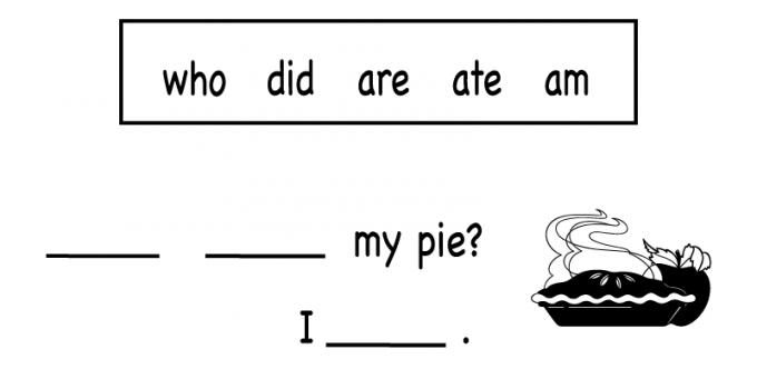 Free Printable Worksheets for Kids English