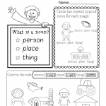 Kindergarten Worksheets Pdf English