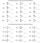 Math Worksheet Generator Fractions