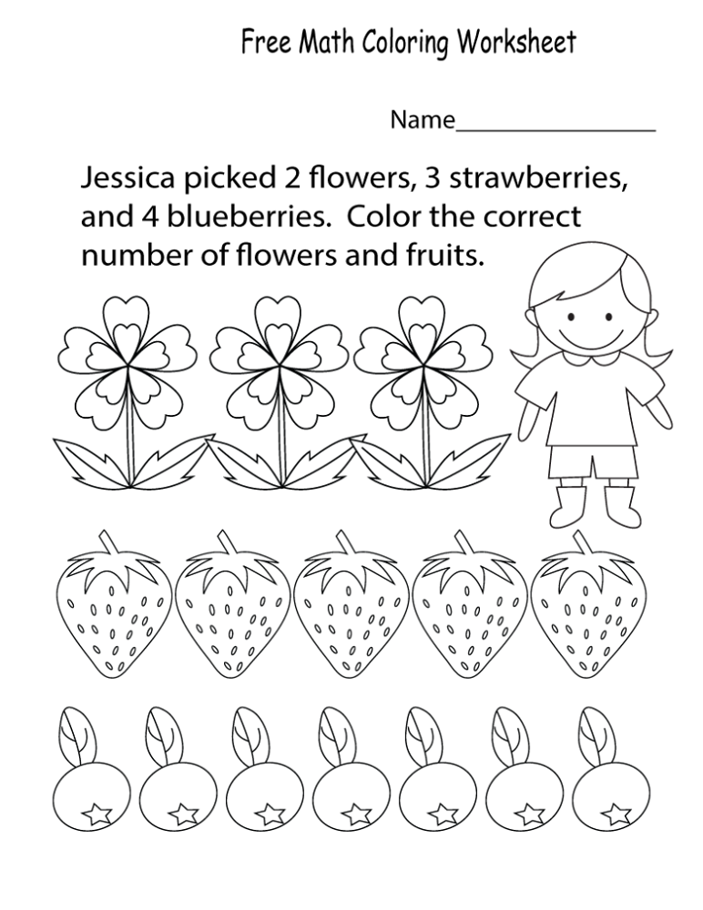 Colouring Worksheets Printables Math