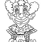 Free Childrens Coloring Pages Clown