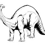 Printable Colouring Pictures for Children Dinosaur