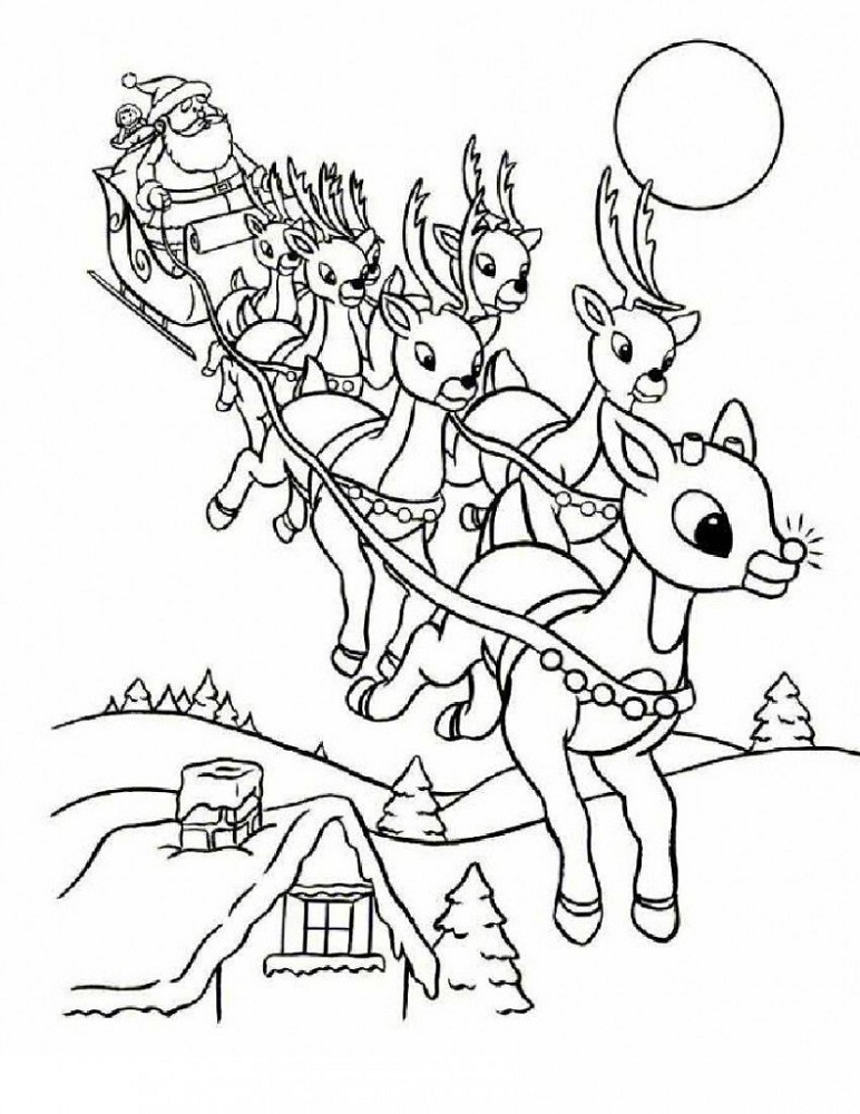 Printable Colouring Pictures for Children Santa