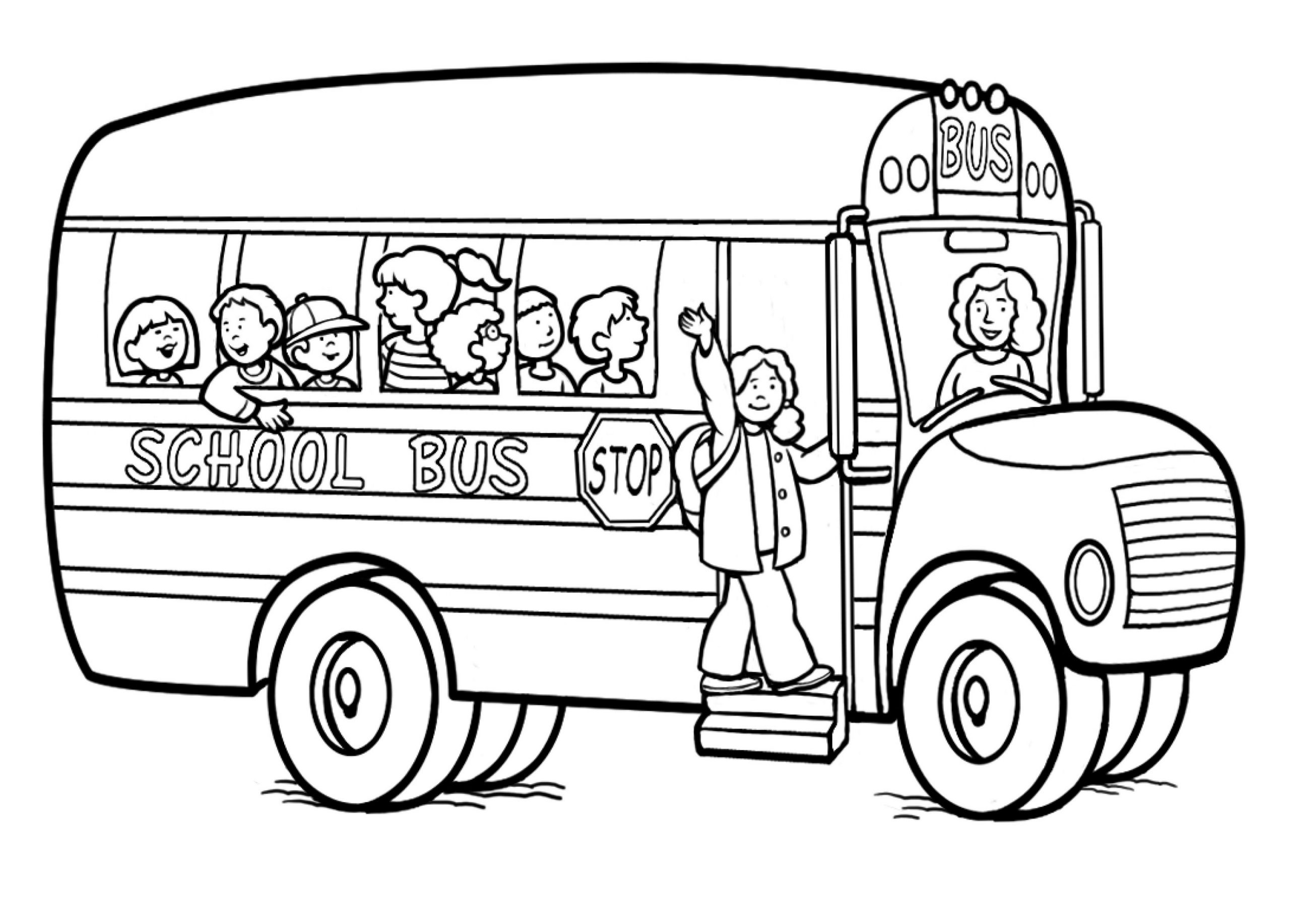 Colouring Pictures for Kids Bus