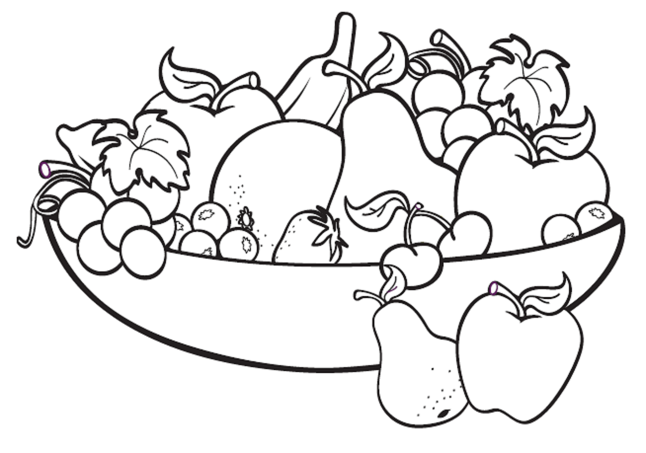 Kids Colouring In Fruit