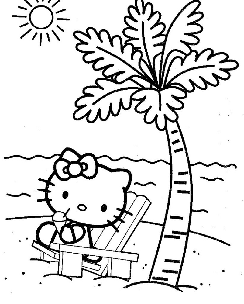 Free Coloring Book Pages Summer