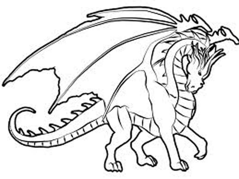 Free Colouring for Children Dragon