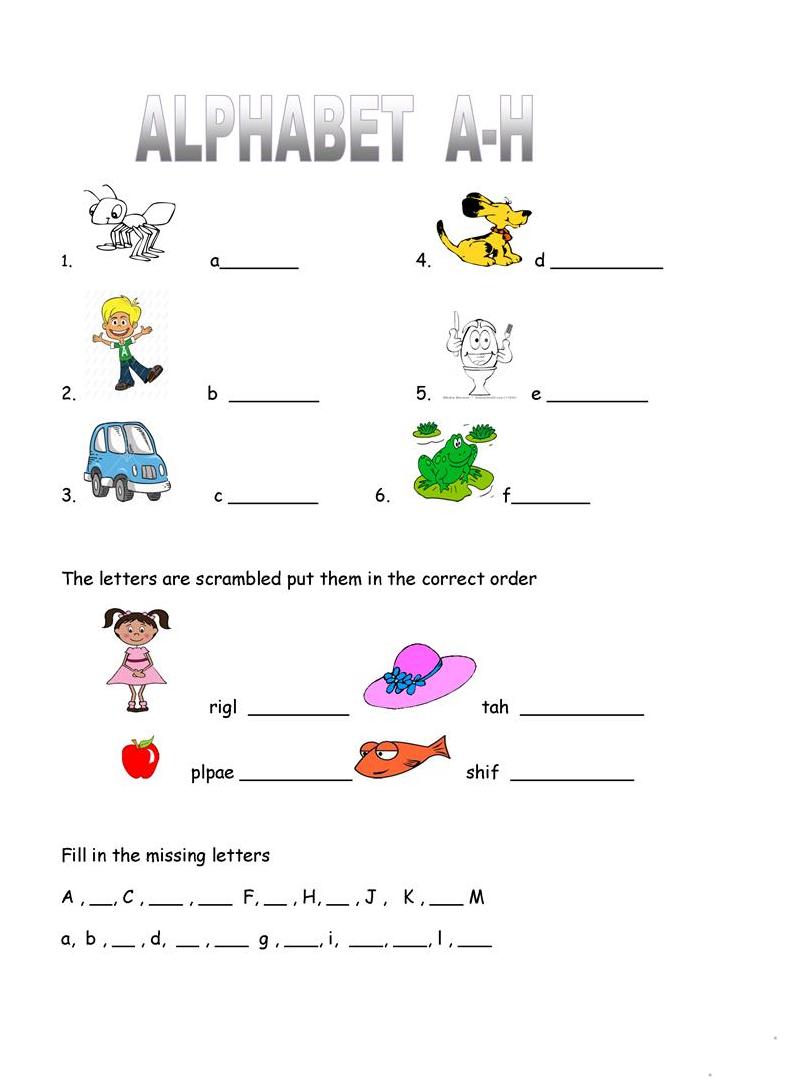alphabet practice worksheets for kids
