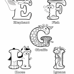 free animals shaped like letters