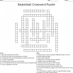 free basketball crossword puzzles