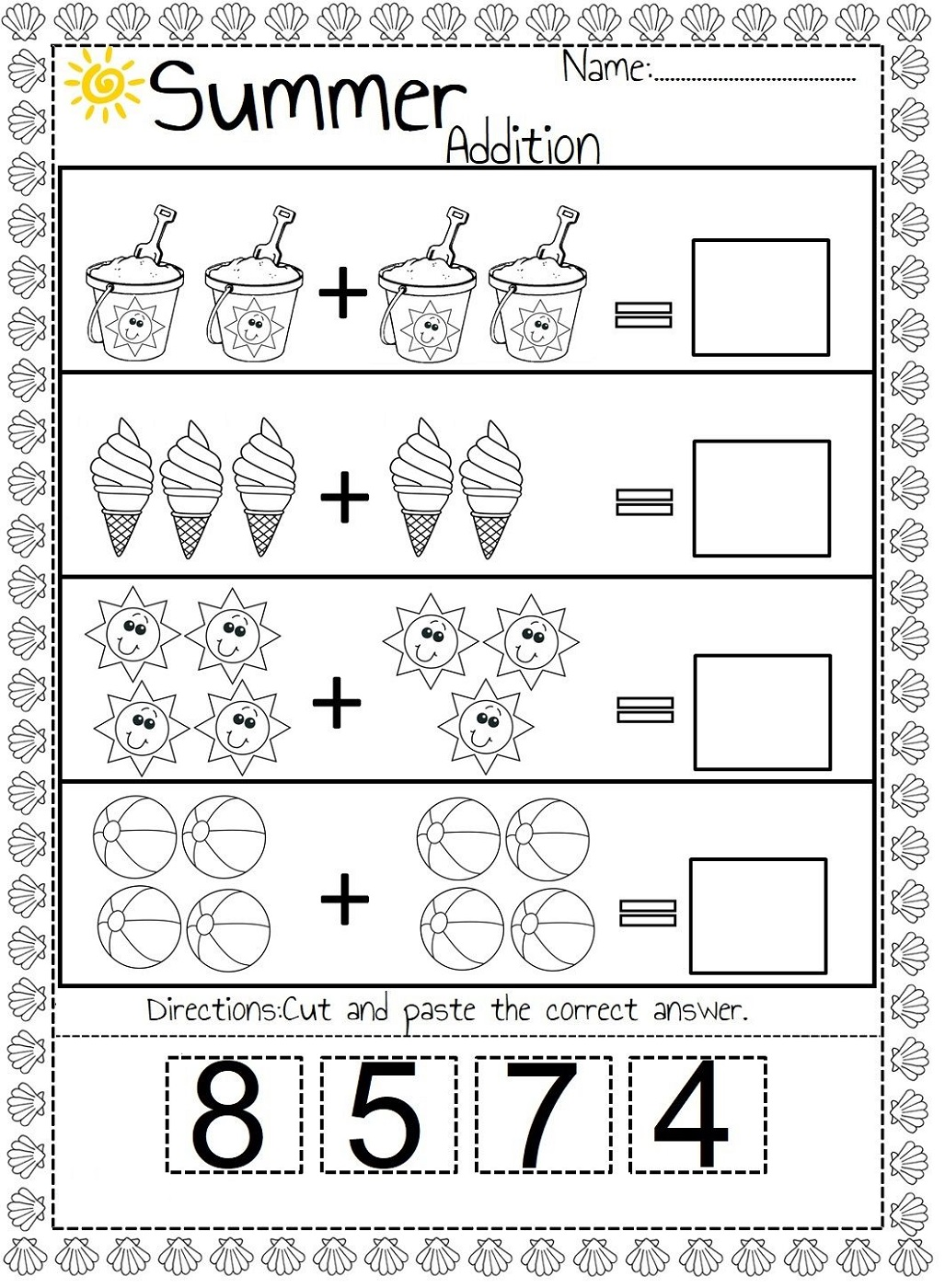 free easy math worksheets for kids