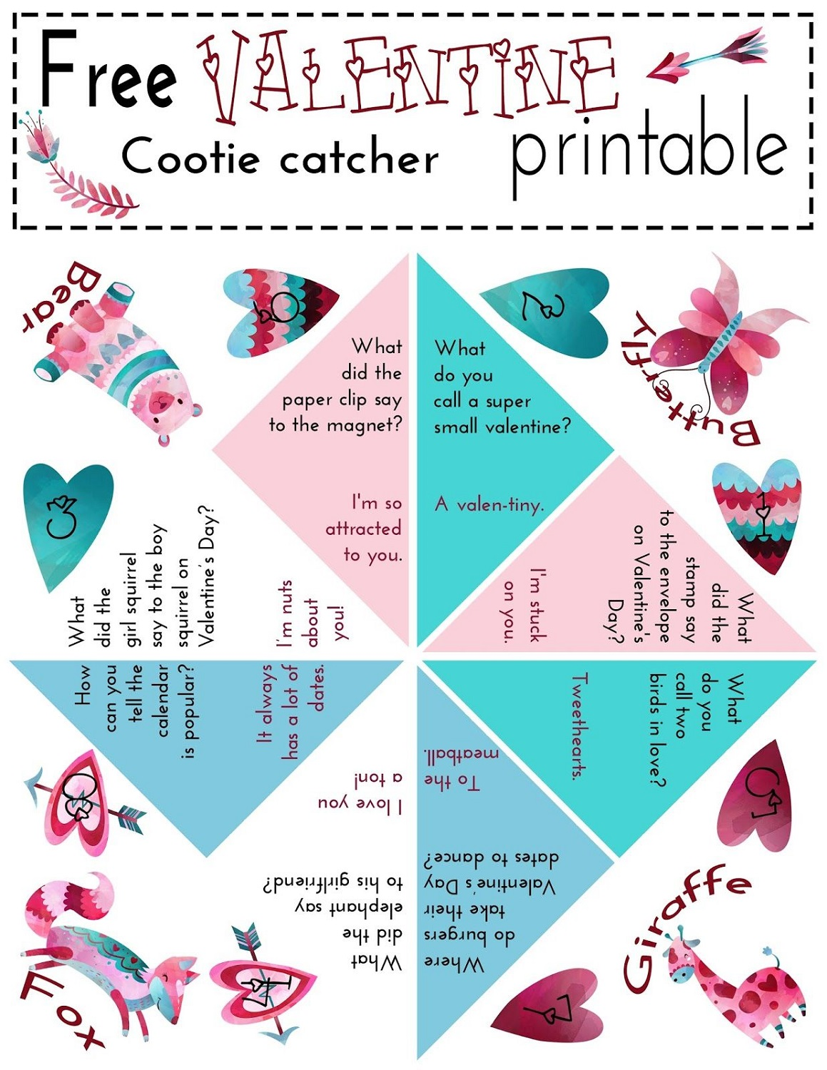 free fortune teller paper game