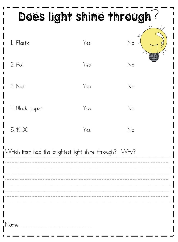 free science worksheets fun