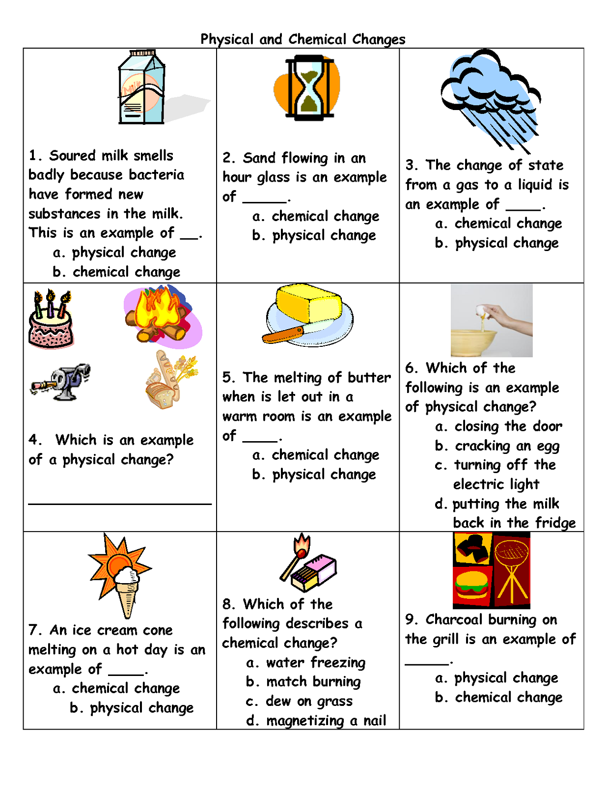 free science worksheets to print