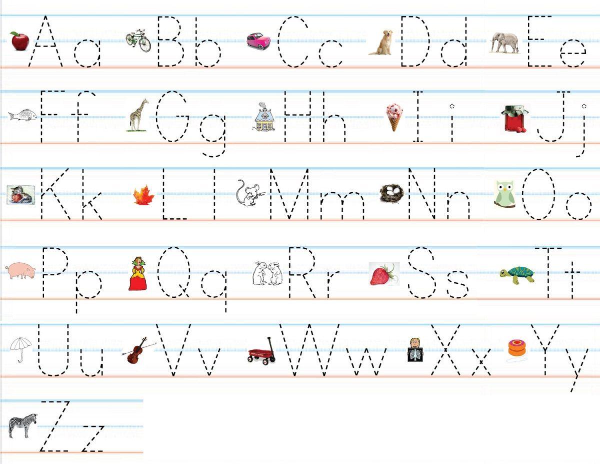 fun alphabet practice worksheets