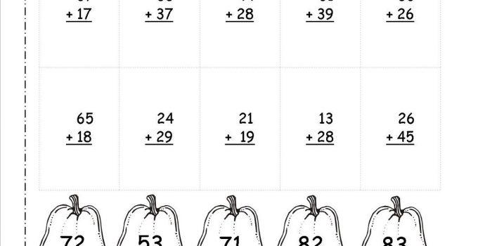 printable 2 digit math worksheets