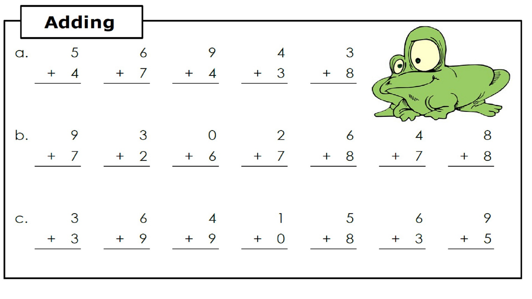 printable free easy math worksheets