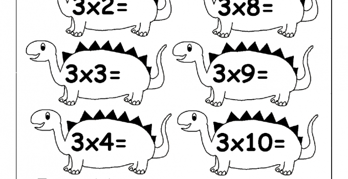 multiply by 3 worksheets fun game
