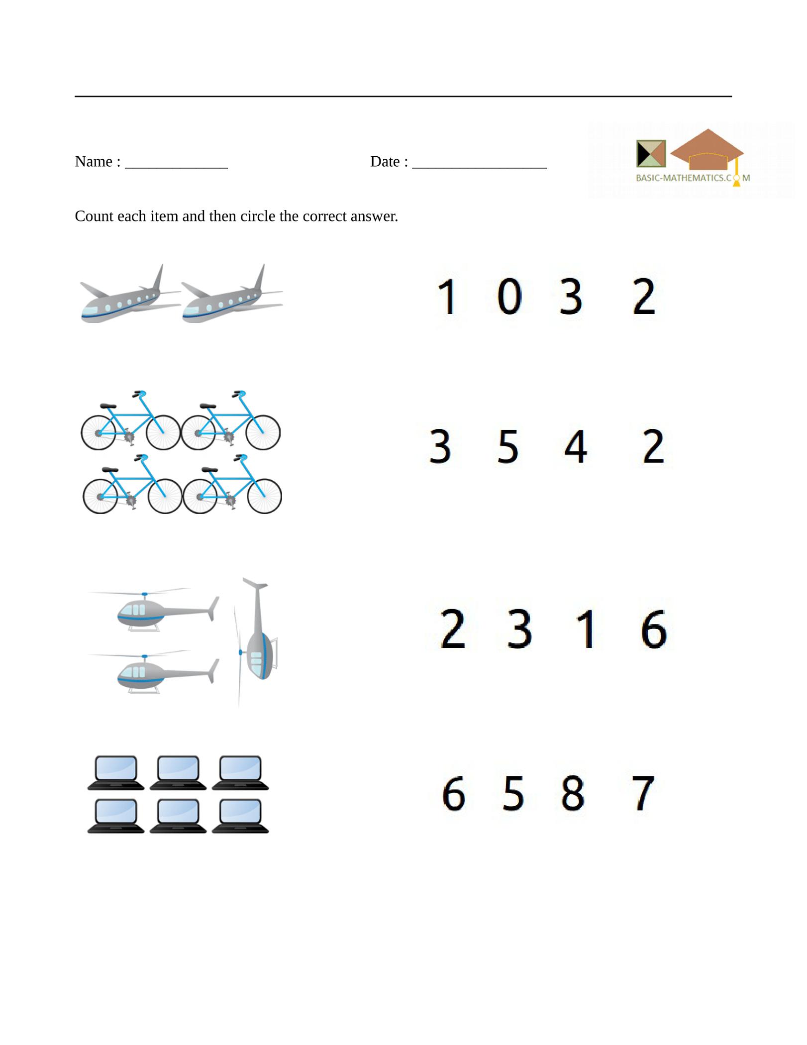 basic free math worksheets for teachers