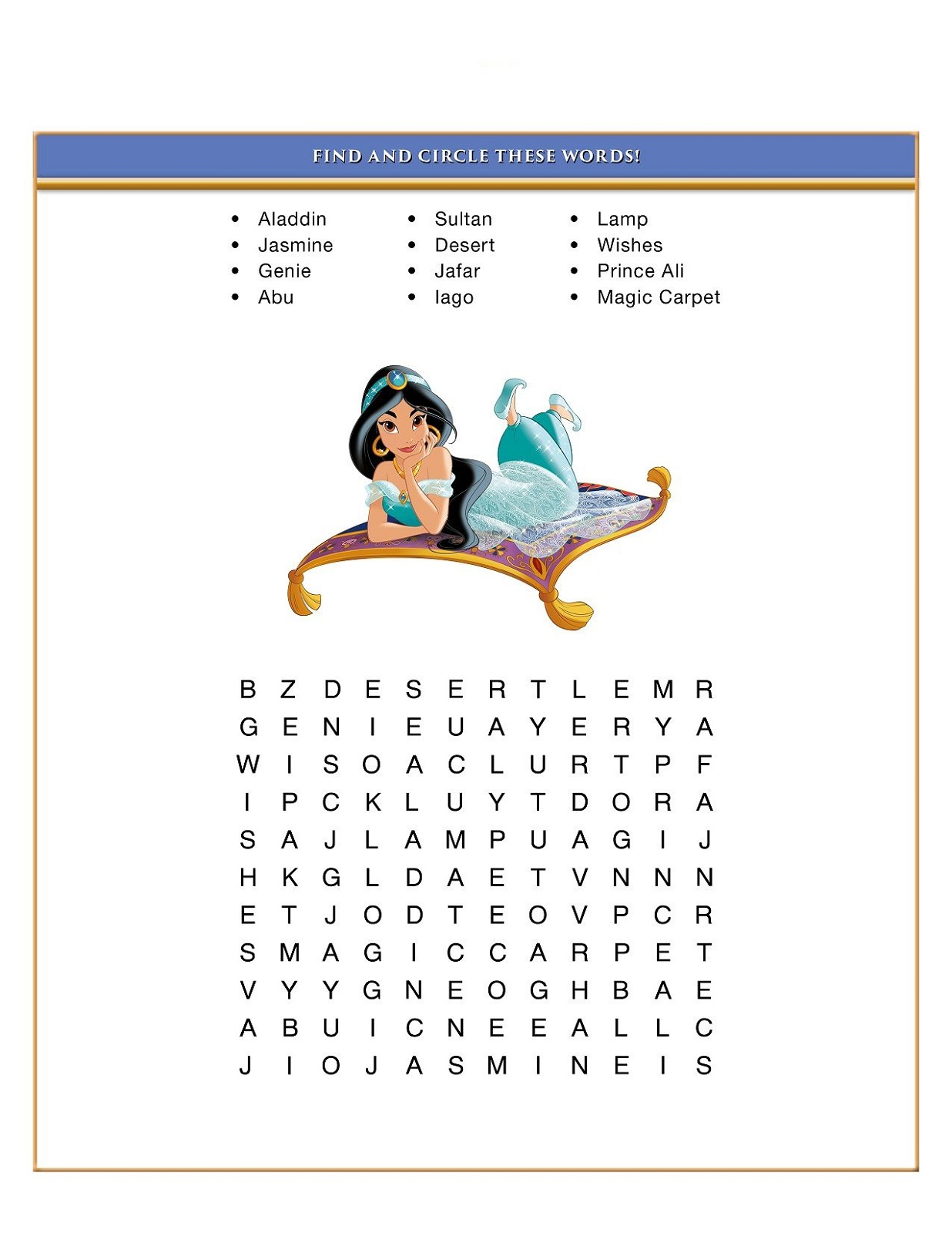 disney word search puzzles for kids