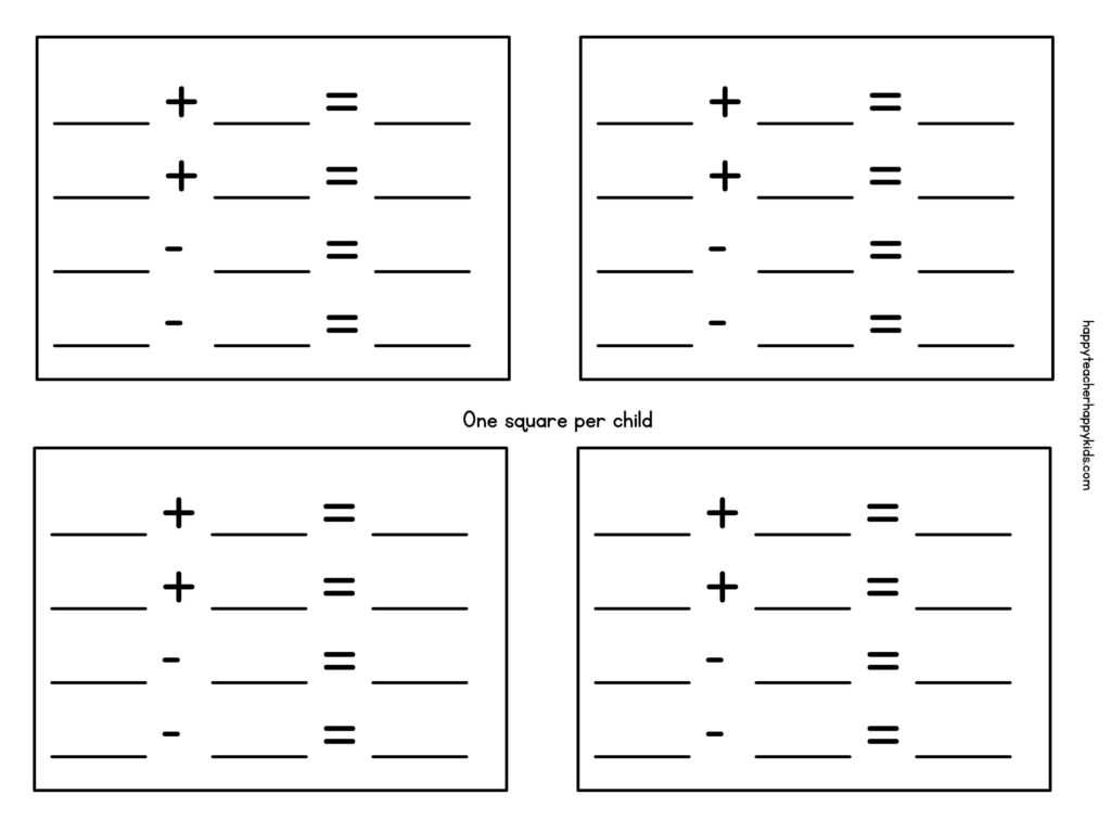 fact families worksheets first grade template
