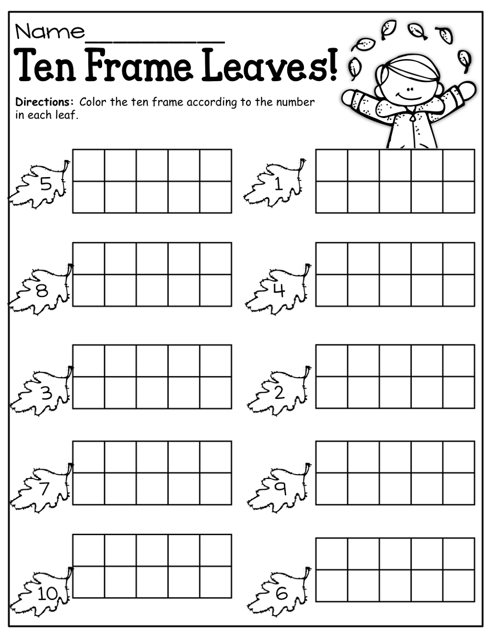 fall free printable activities for kindergarten