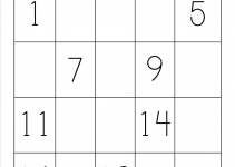 missing 1-20 number chart