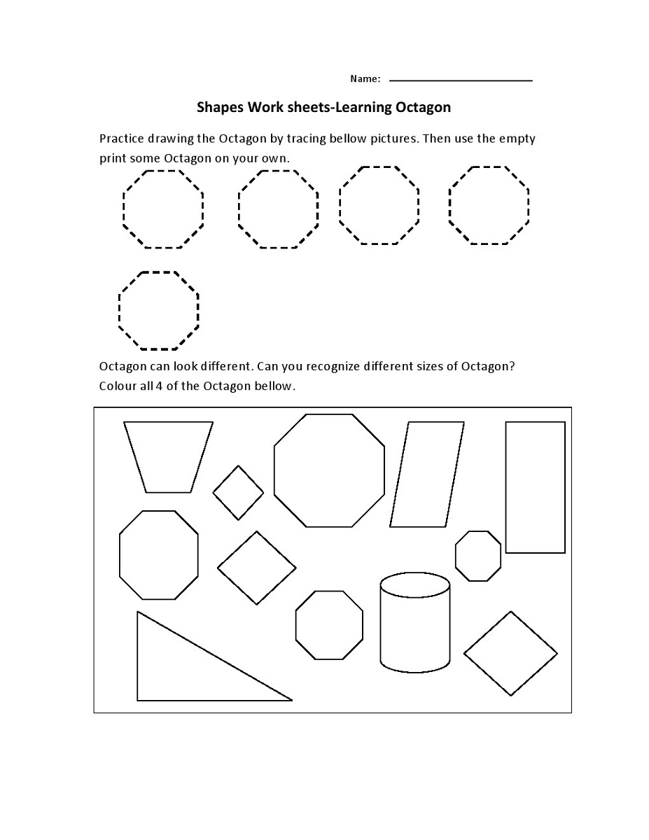 shapes learning activities for preschoolers printables