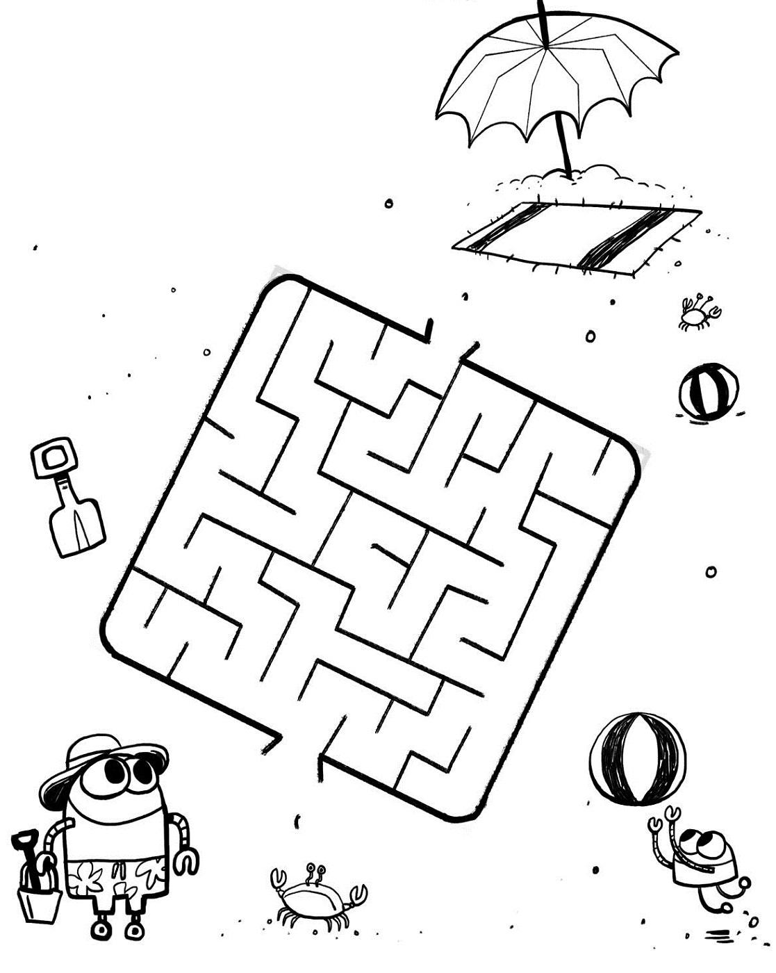 summer free printable activities for kindergarten