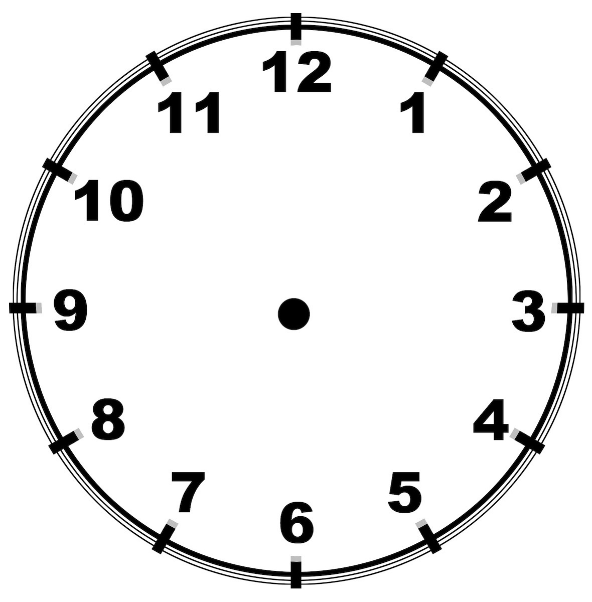 blank clock face templates