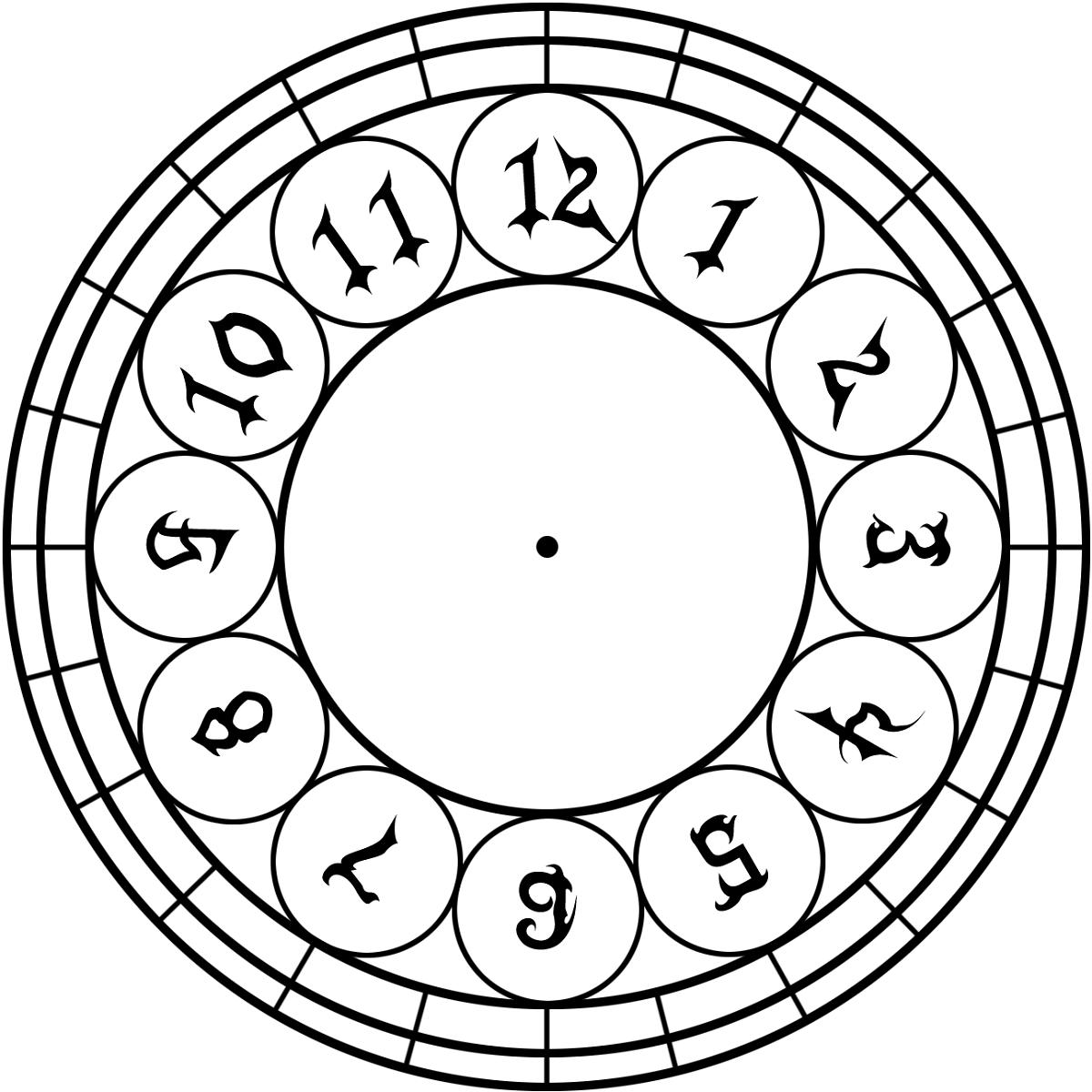 free clock face templates