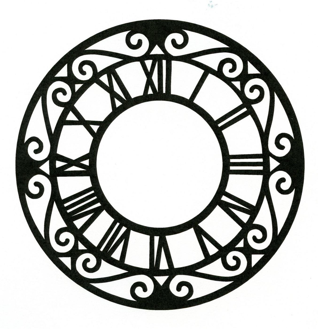 pattern clock face templates