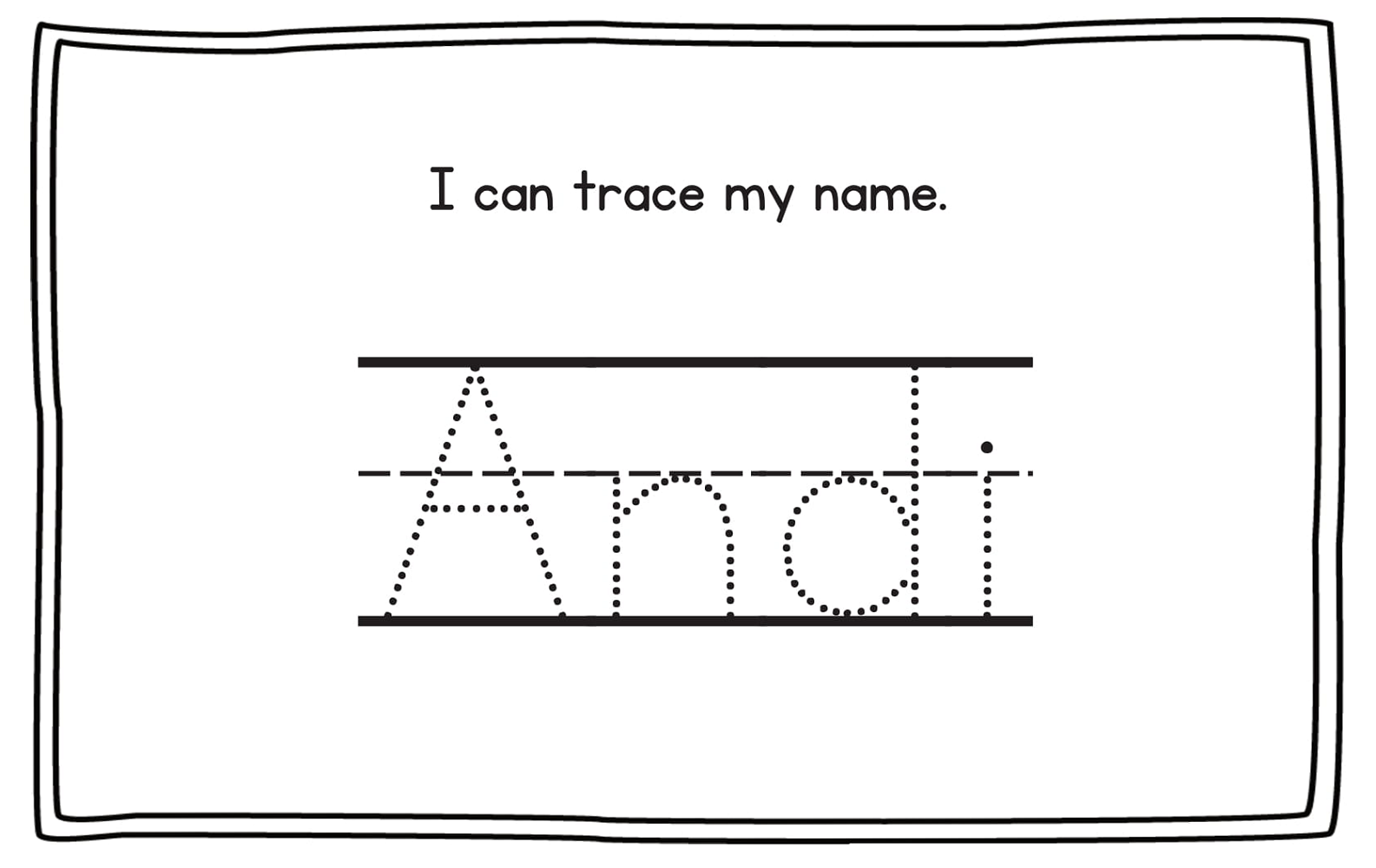 printable traceable name sheets