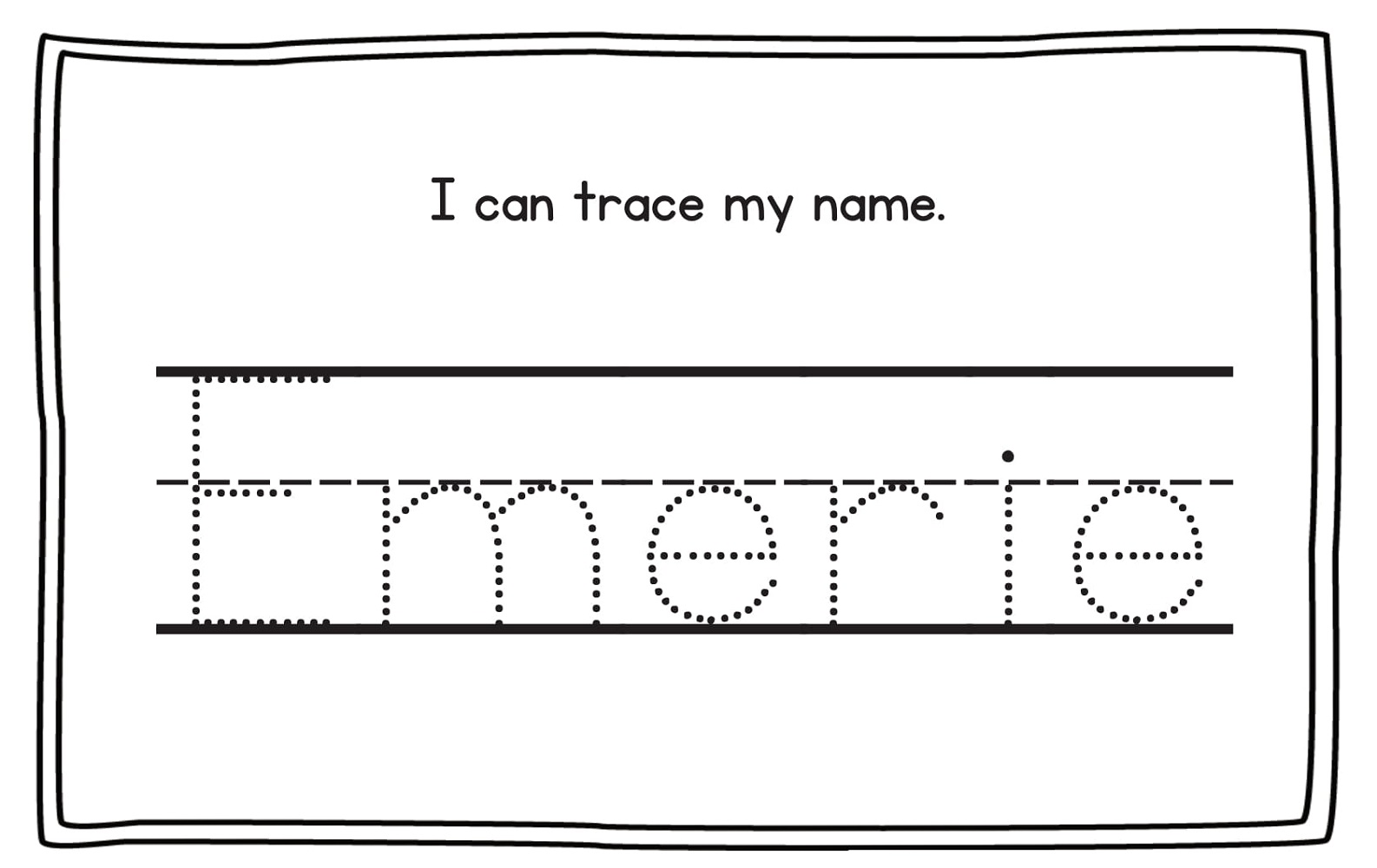 traceable name sheets for practice