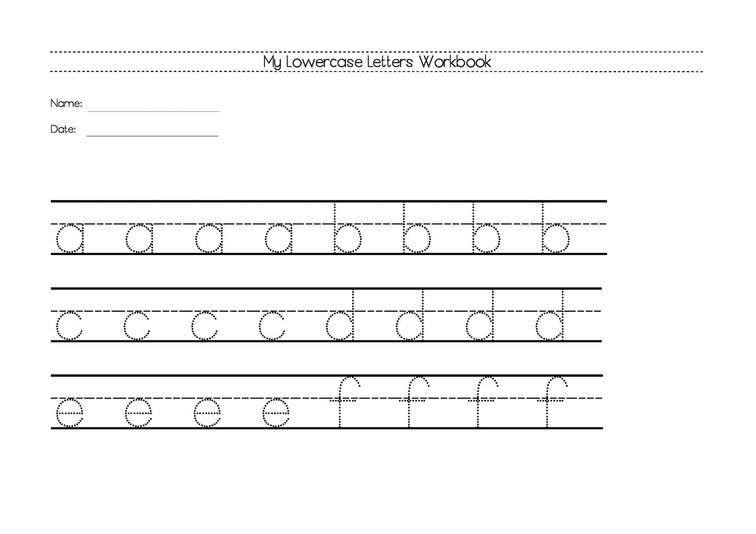 wiriting lower case alphabet worksheets
