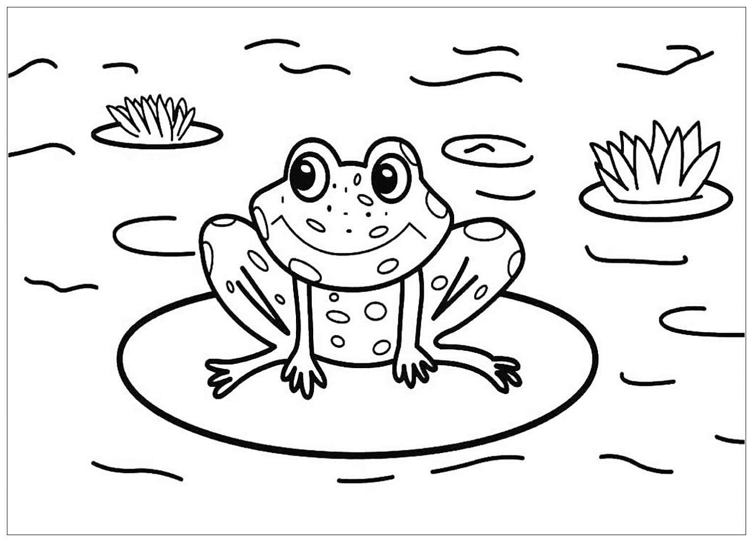 coloring frog pictures for kids