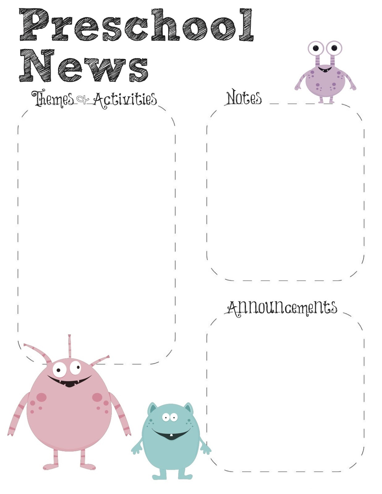 preschool free printables for teachers