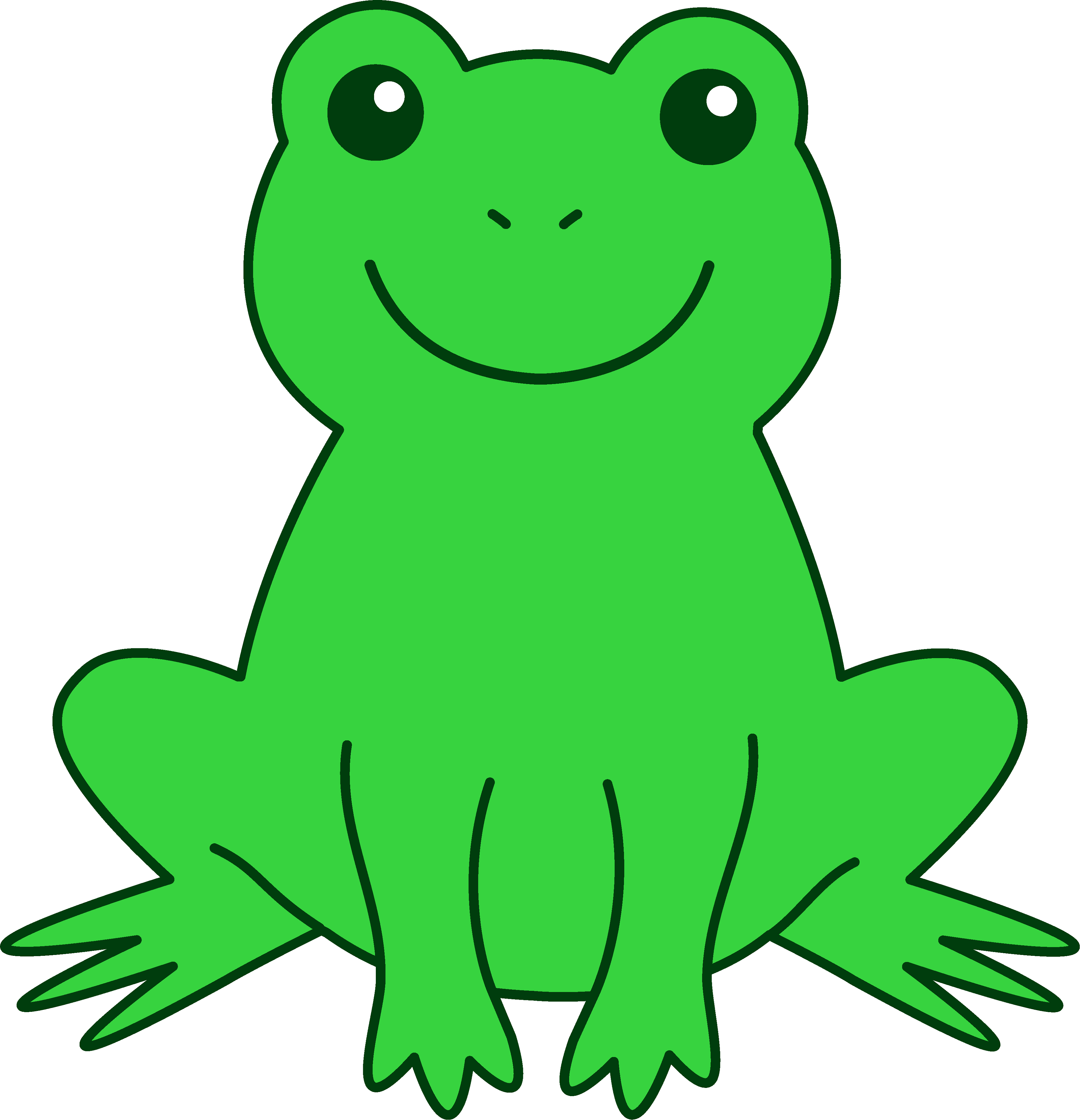 simple frog pictures for kids